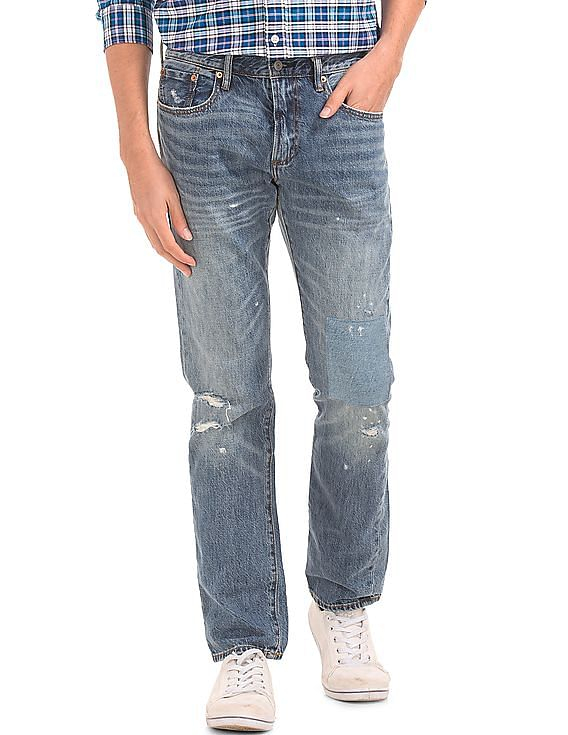 Flat Rs.1,000 Off on Rs.5,000 For New Users on First Purchase   GAP  Original 1969 Destructed Vintage Slim Fit Jeans By NNNOW @ Rs.5,999