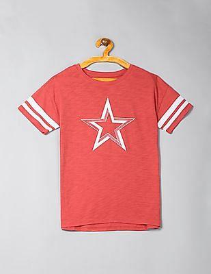 GAP Girls Graphic Rugby-Stripe Tunic T-Shirt