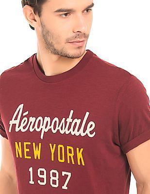 Aeropostale Slub Printed T-Shirt