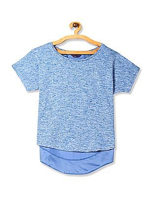 SUGR Blue Mesh Panel Active Top