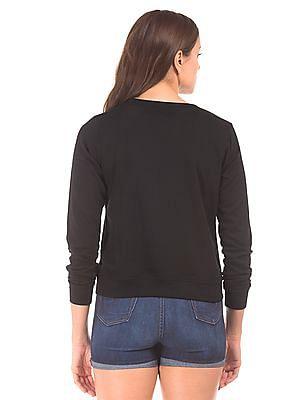 Elle Regular Fit Printed Sweatshirt