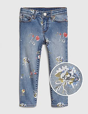 GAP Toddler Girl Superdenim Floral Skinny Jeans With Fantastiflex
