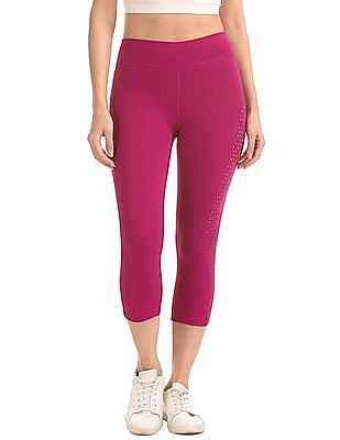 Aeropostale Perforated Cropped Active Leggings