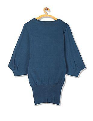 EdHardy Women Batwing Sleeve Sweater Top