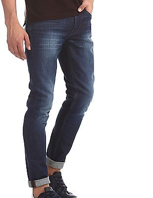 U.S. Polo Assn. Denim Co. Blue Mid Rise Washed Jeans