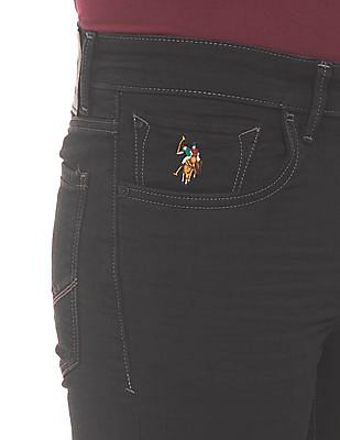 U.S. Polo Assn. Denim Co. 3D Whiskers Skinny Fit Jeans