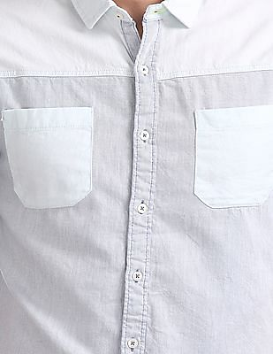 Colt Regular Fit Printed Denim Shirt