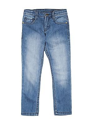 FM Boys Boys Stone Wash Slim Fit Jeans
