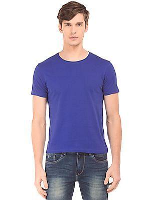 Flying Machine Solid Slim Fit T-Shirt