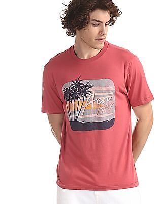 Aeropostale Pink Regular Fit Brand Graphic T-Shirt