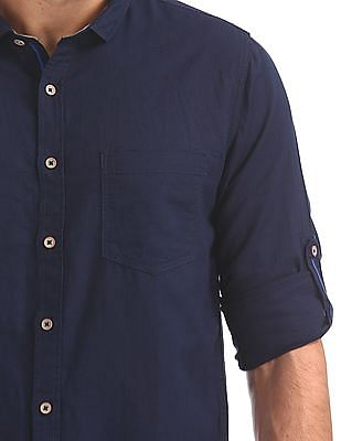 Cherokee Long Sleeve Cotton Linen Shirt