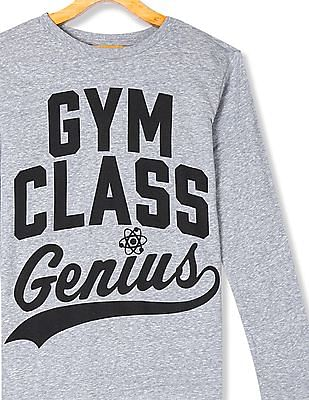 The Children's Place Boys Grey Gym Class Genius' Graphic Tee