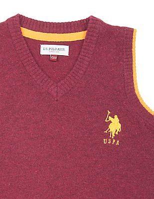 U.S. Polo Assn. Kids Boys Lambswool Sweater Vest