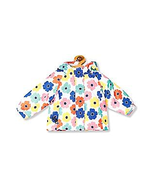 The Children's Place Toddler Girl White Floral Print 3 In 1 Jacket