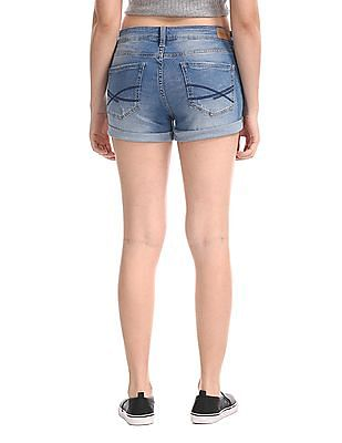 Aeropostale Blue Distressed Denim Shorts