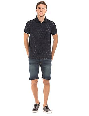Izod Floral Print Slim Fit Polo Shirt