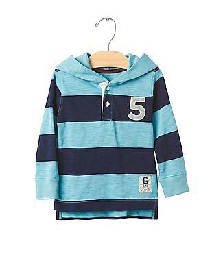 GAP Baby Blue Rugby Henley Hoodie