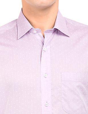 Arrow Dot Print Regular Fit Shirt