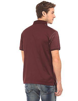 Izod Dot Print Slim Fit Polo Shirt