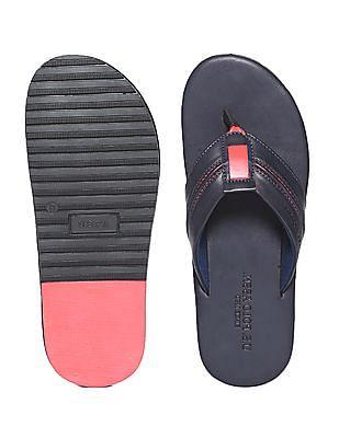 U.S. Polo Assn. V-Strap Contrast Trim Sandals