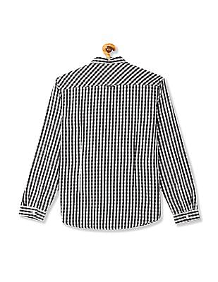 Flying Machine Mitered Cuff Check Shirt