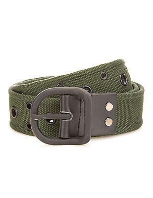 Colt Grommet Embellished Canvas belt