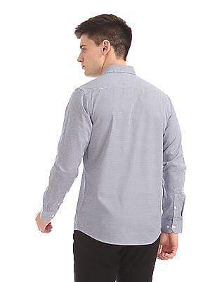 Excalibur Mitered Cuff Printed Shirt