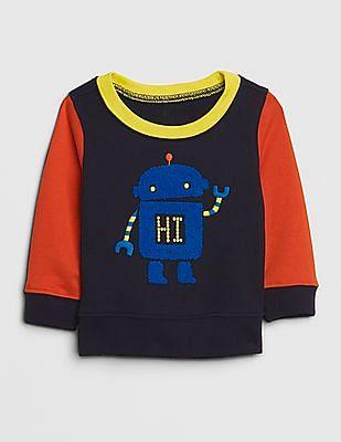 GAP Blue Baby Boy Graphic Colorblock Sweatshirt