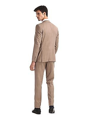 Arrow Brown Single Breasted Three Piece Suit
