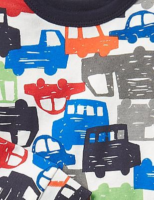 GAP Baby Multi Colour Colourful Car Sleep Set