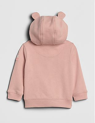 GAP Baby Pink Brannan Bear Logo Hoodie Sweatshirt