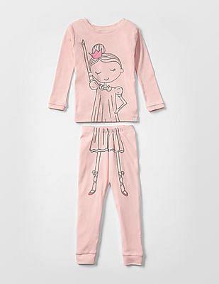GAP Baby Pink Dance Sleep Set
