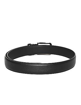 Colt Black Adjustable Buckle Textured Belt