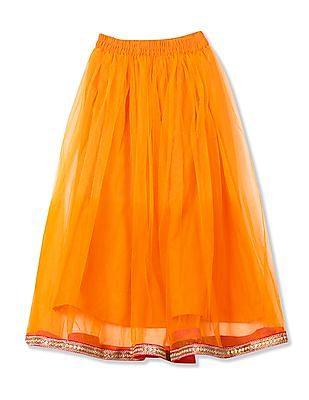 Karigari Girls Skirt Top And Dupatta Set
