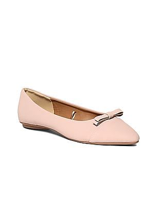 SUGR Pointed Toe Bow Accent Ballerinas