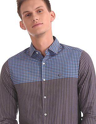 Arrow Sports Manhattan Slim Fit Long Sleeve Shirt