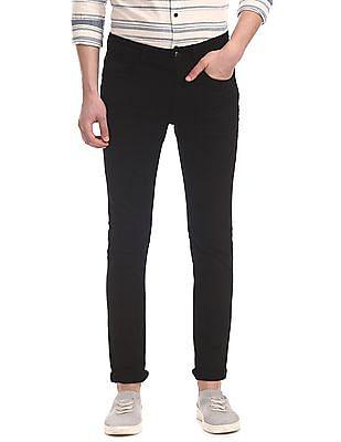 U.S. Polo Assn. Denim Co. Black Regallo Skinny Fit Mid Rise Jeans