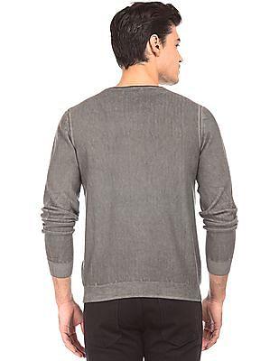 Ed Hardy Slim Fit Round Neck Sweater
