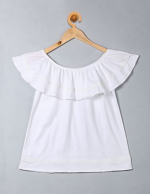 GAP Girls Embroidery Off-Shoulder Top
