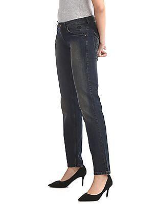 Flying Machine Women Blue Scarlet Slim Fit Washed Jeans