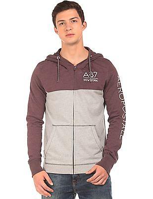 Aeropostale Colour Block Hooded Sweatshirt