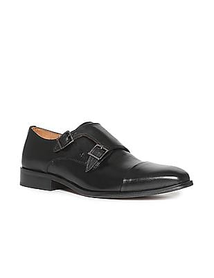 Arrow Monk Strap Leather Shoes