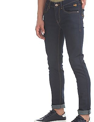 Flying Machine Blue Jackson Skinny Rinsed Jeans