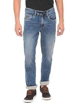 U.S. Polo Assn. Denim Co. Drawstring Waist Slim Tapered Fit Jeans