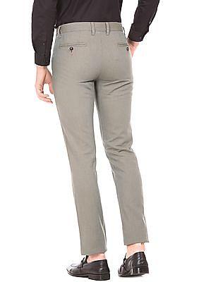 Arrow Sports Patterned Weave Slim Fit Trousers