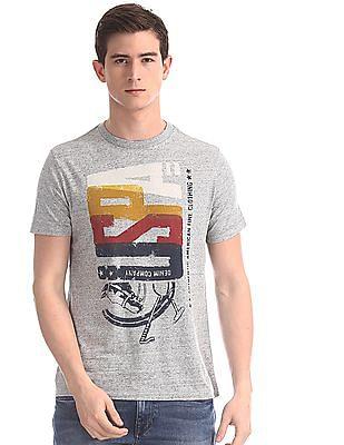 U.S. Polo Assn. Denim Co. Grey Front Print Crew Neck T-Shirt