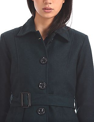 Arrow Woman Belted Tweed Trench Coat
