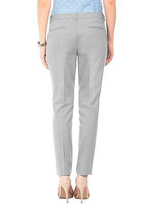 Arrow Woman Flat Front Regular Fit Trousers