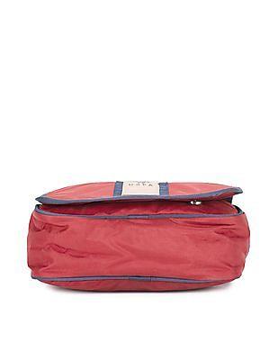U.S. Polo Assn. Contrast Trim Flap Messenger Bag