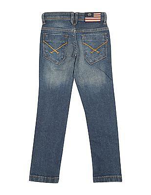U.S. Polo Assn. Kids Boys Lightly Distressed Slim Fit Jeans